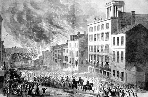 The fall of Richmond, Virginia, April, 1865