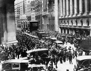 Black Tuesday on Wall Street, New York City