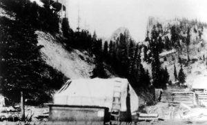 Bob Ford's Tent Saloon in Creede, Colorado, 1892