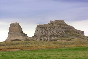 Courthouse & Chimney Rock on the Oregon Trail in Nebraska