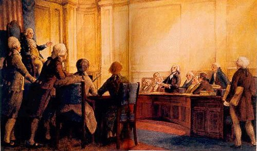 First Congress listens to Madison present Bill of Rights