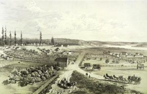 Fort Vancouver, Washington by Gustave Sohon, 1850