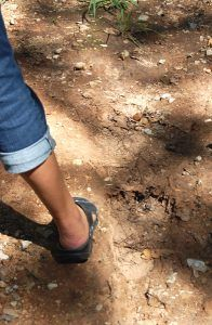 Bigfoot print at For Washita, Oklahoma.
