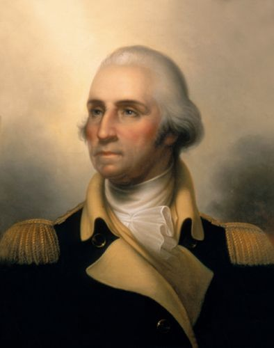 George Washington in military uniform, by Rembrandt Peale