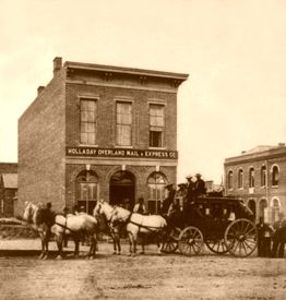 Holladay Overland Mail and Express Company in Denver, Colorado, about 1865