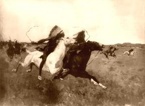 Indian Attack by Frederic Remington, 1907