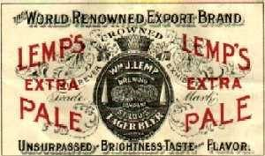 Lemp Beer Label, 1892