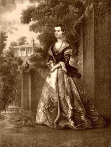 Martha Washington at Mount Vernon, by Jacob Rau