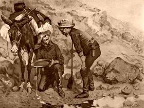 Miners prospecting by Frederic Remington