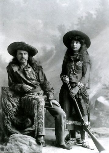 Pawnee Bill and his wife, May