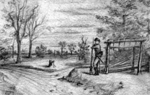 Picket Duty, sketch by William Henry Jackson