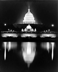 U.S. Capitol at Night, 1946