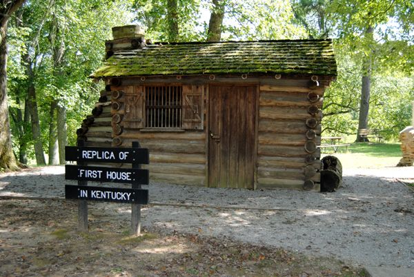 A replica of the first house in Kentucky has been built at the Dr. Thomas Walker State Park near Barbourville, Kentucky.