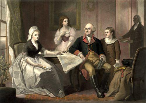 Washington and his family