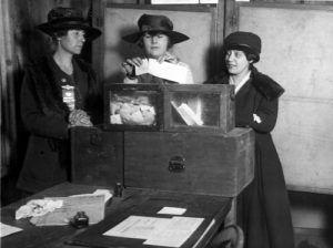 Women vote, 1917