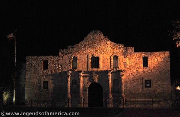 Ghosts Of The Alamo Alamo At Night
