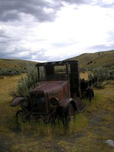 An old truck in Bannack, Montana