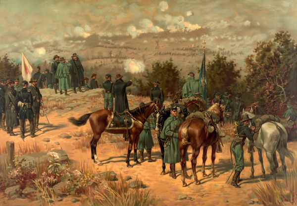 Battle of Chattanooga, L. Prang and Co, 1880