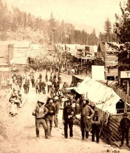 Deadwood, South Dakota from the south, 1876.