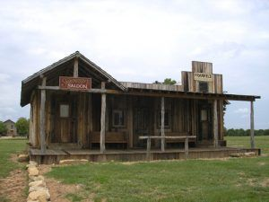 Shaunissy's Saloon at Fort Griffin, Texas
