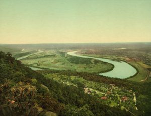 Moccasin Bend from Lookout Mountain, TN,Detroit Photographic Co,1902
