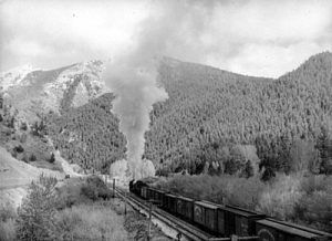 Northern Pacific Train in Washington