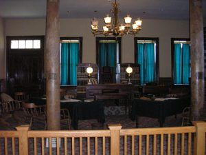 Judge Parker's court room