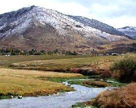 Portneuf River south of Pocatello, Idaho