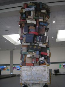 Sacramento luggage sculpture