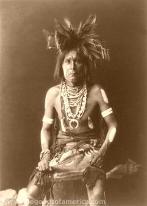 Snake Priest by Edward S. Curtis