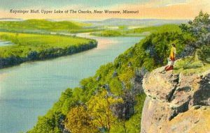 Kaysinger Bluff over the Osage River, Warsaw, Missour