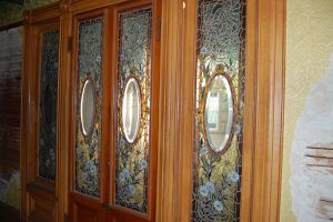 Ornate windows in doors