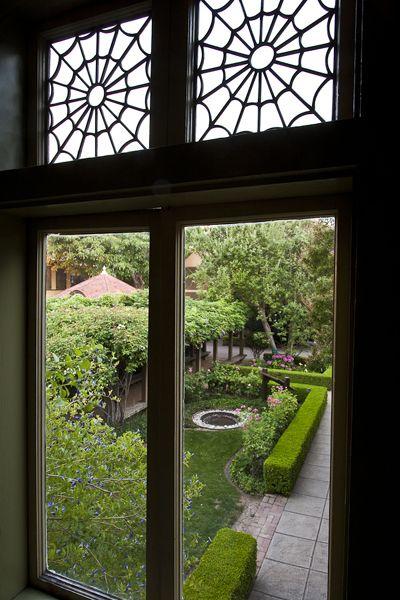 Spider Webb windows courtesy Winchester Mystery House