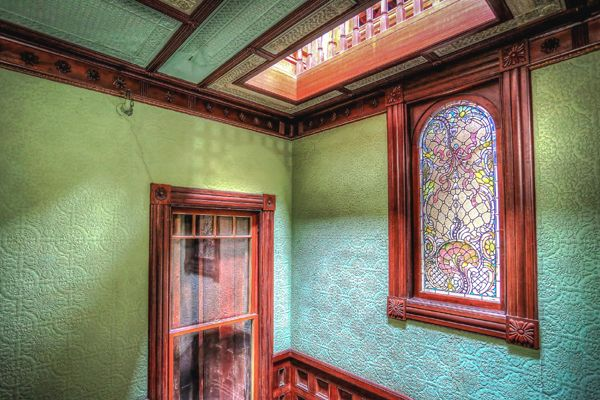 Winchester House Walls and Windows courtesy Winchester Mystery House