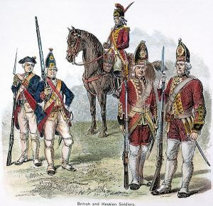 British Hessian soldiers