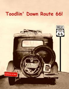 Toodlin' Down 66 Postcard