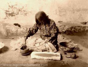 Zuni Woman making potter, Edward S. Curtis