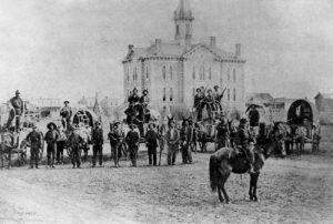 Buffalo hunters in Great Bend, Kansas