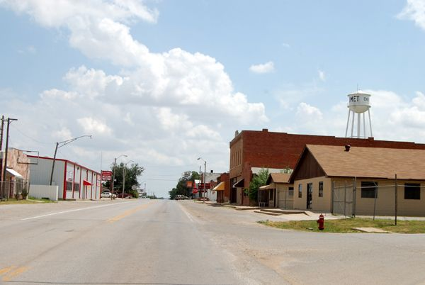 Route 66 in Calumet, Oklahoma