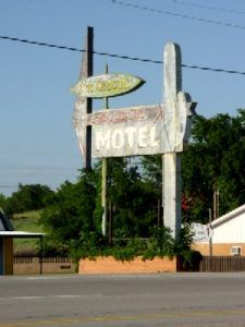 Old Motel Sign in Clinton, Oklahoma