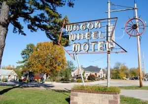 Wagon Wheel Motel Sign, Cuba, Missouri