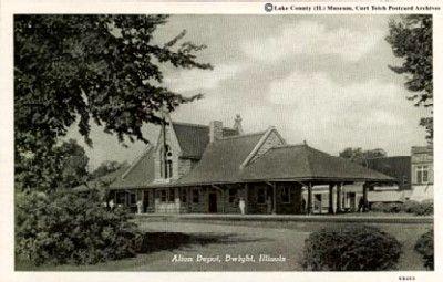 Dwight Train Depot 1946