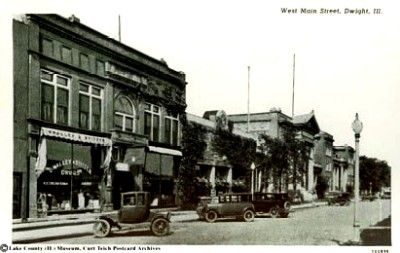 Dwight West Main Street 1928