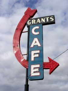 Grants, New Mexico Cafe Sign