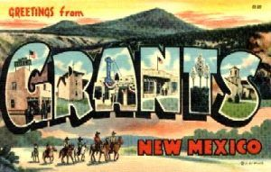 Greetings From Grant New Mexico Postcard