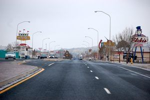 Route 66 through Grants, New Mexico