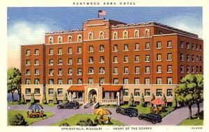 The Kentwood Hotel built in 1926 by John T.  Woodruff is now a dormitory for MSU.