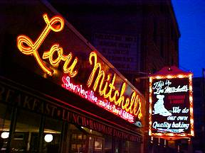Lou Mitchell's has been doing business in Chicago since 1923.