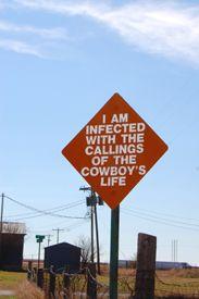 Marsh Sign cowboy life - Adrian Texas