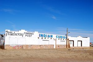 Midway Trading Post between Moriarty and Edgewood, New Mexico